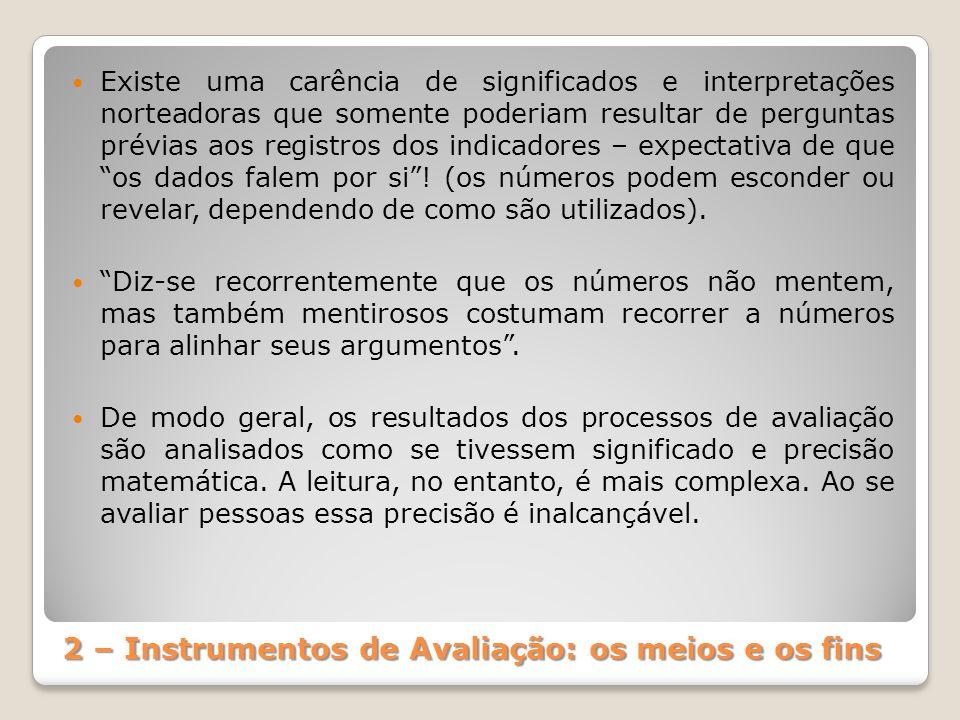2 – Instrumentos de Avaliação: os meios e os fins
