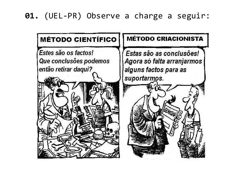 01. (UEL-PR) Observe a charge a seguir:
