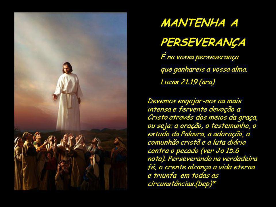 MANTENHA A PERSEVERANÇA É na vossa perseverança