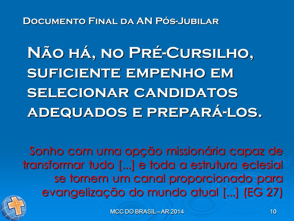 Documento Final da AN Pós-Jubilar