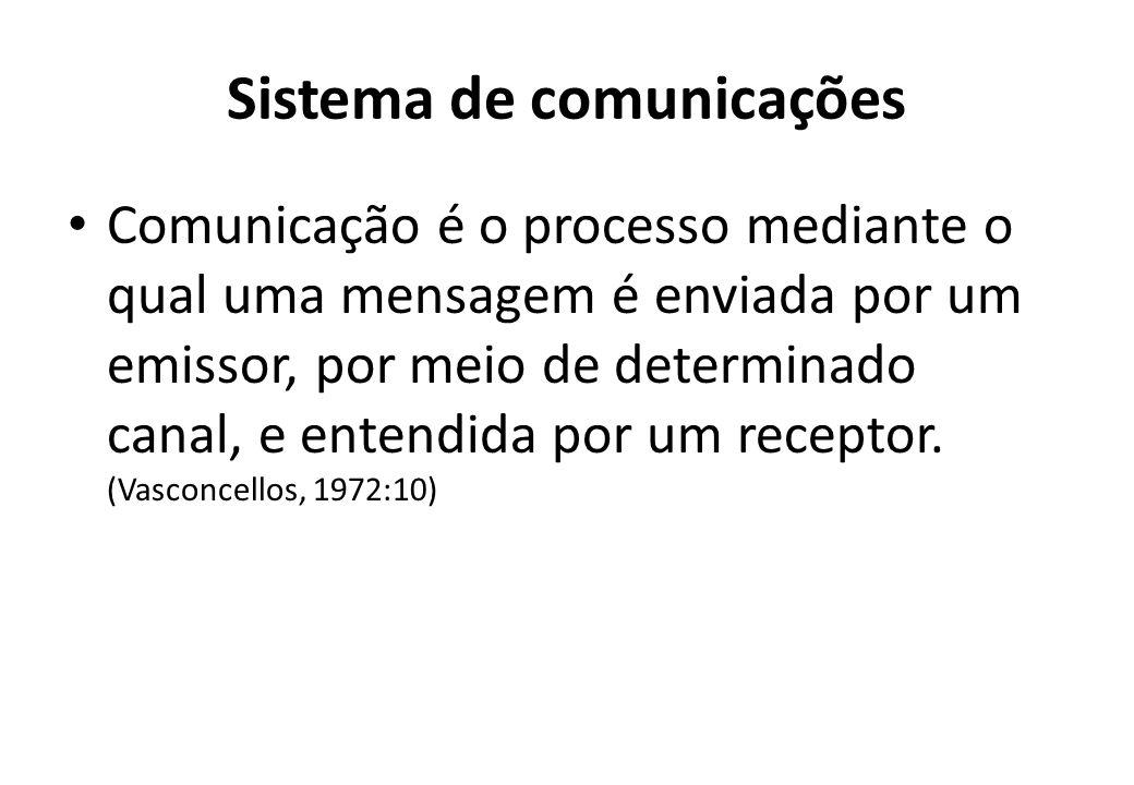 No sistema de comunicações, deve ser considerado: