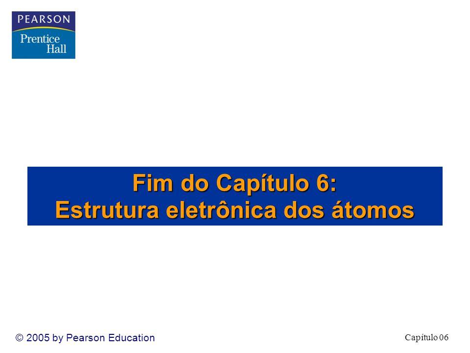 Fim do Capítulo 6: Estrutura eletrônica dos átomos