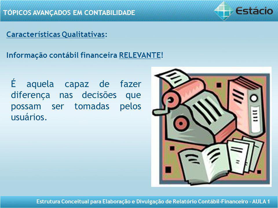 Características Qualitativas: