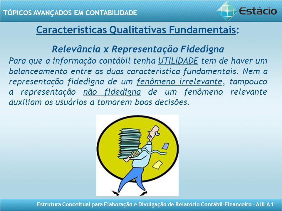 Características Qualitativas Fundamentais: