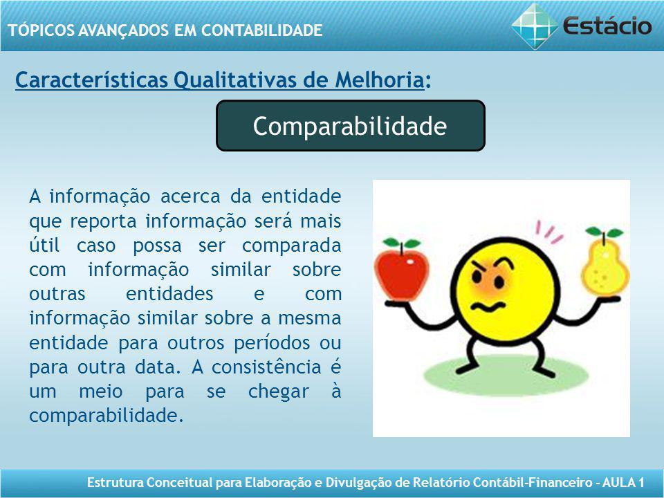 Comparabilidade Características Qualitativas de Melhoria: