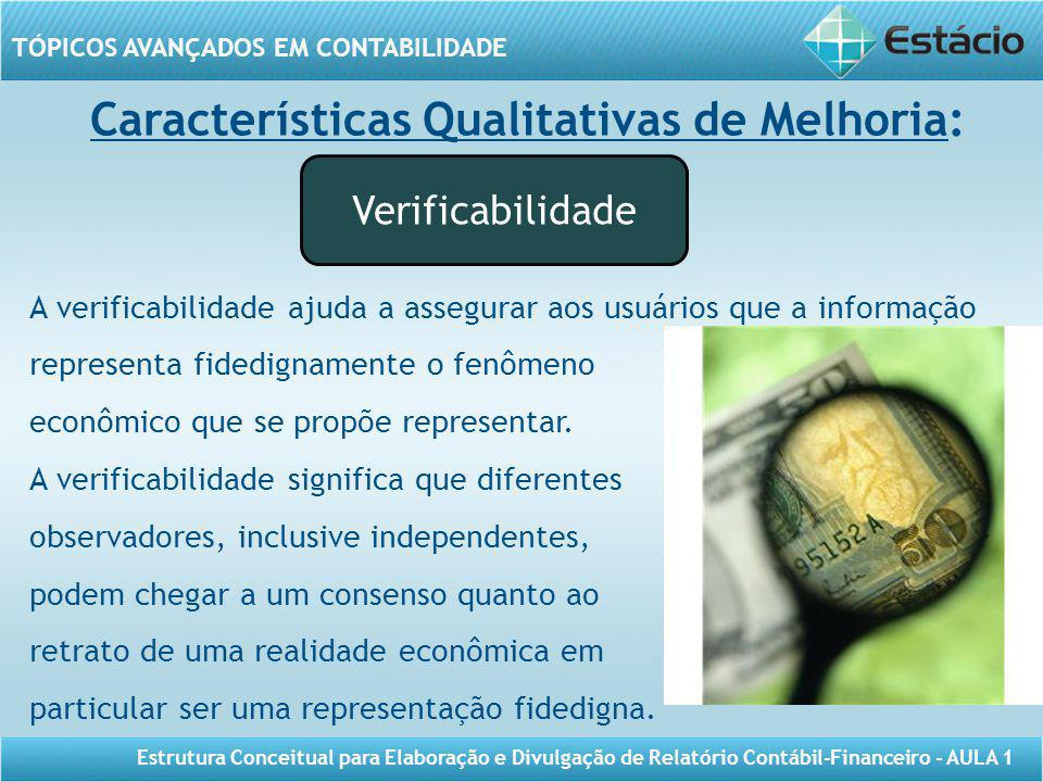 Características Qualitativas de Melhoria: