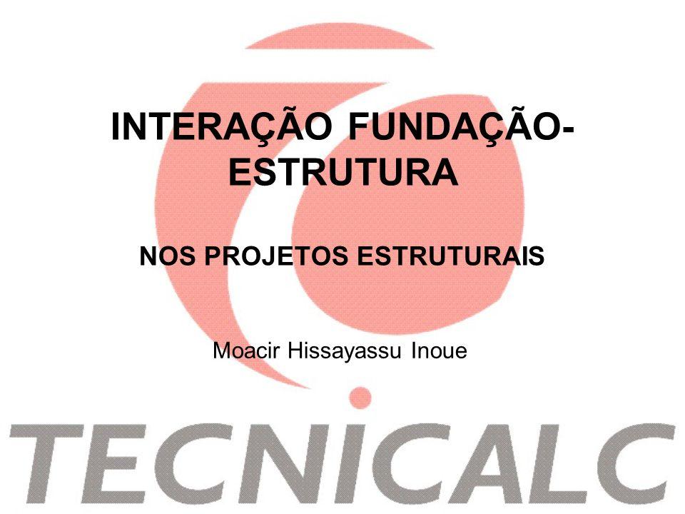 INTERAÇÃO FUNDAÇÃO-ESTRUTURA NOS PROJETOS ESTRUTURAIS