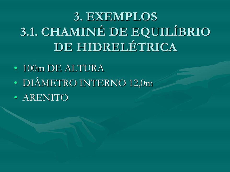3. EXEMPLOS 3.1. CHAMINÉ DE EQUILÍBRIO DE HIDRELÉTRICA