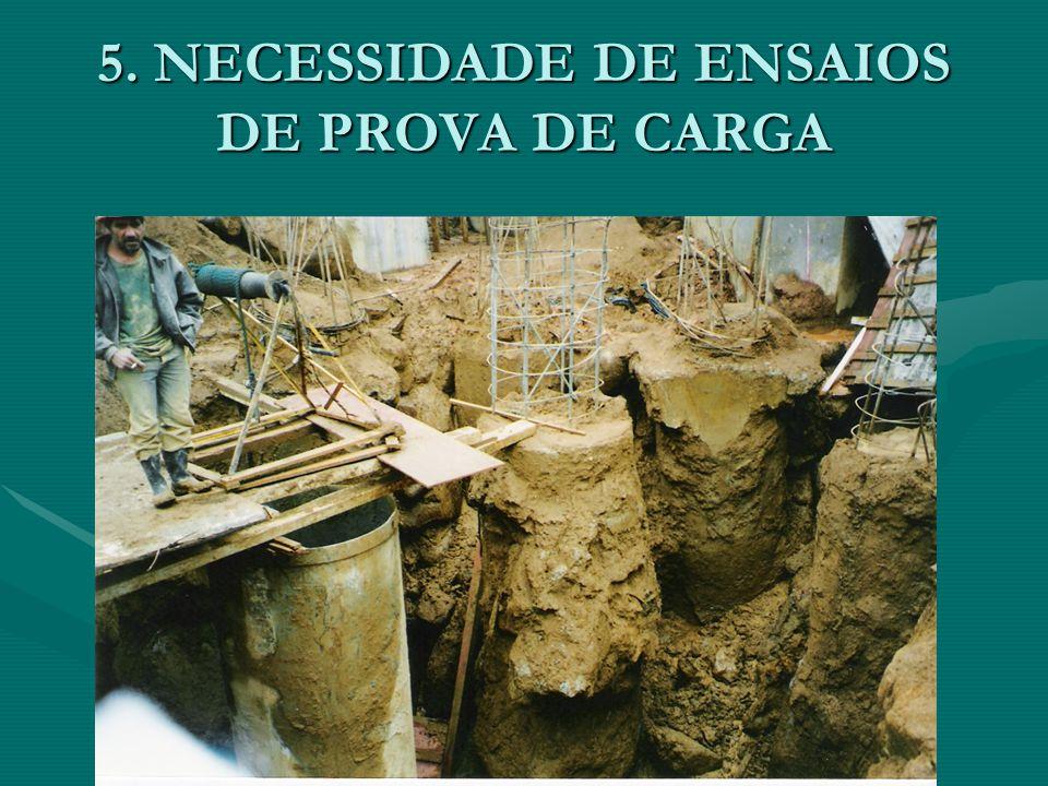 5. NECESSIDADE DE ENSAIOS DE PROVA DE CARGA