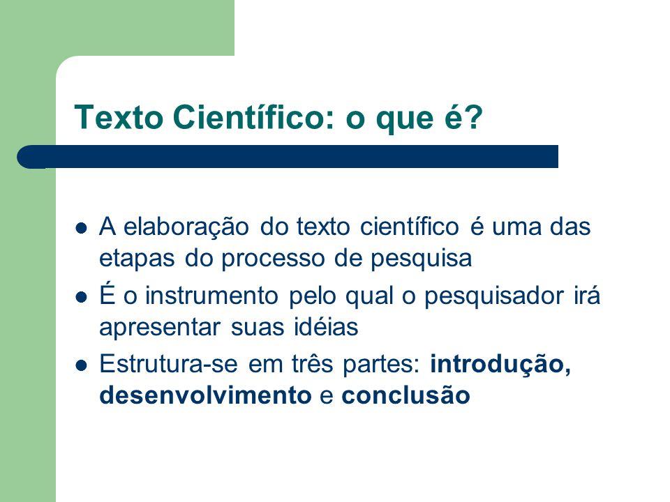 Texto Científico: o que é