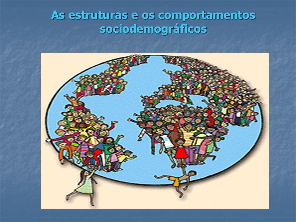 As estruturas e os comportamentos sociodemográficos