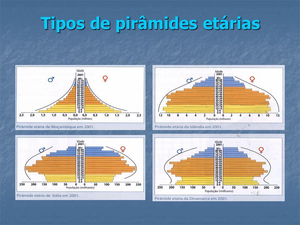 Tipos de pirâmides etárias