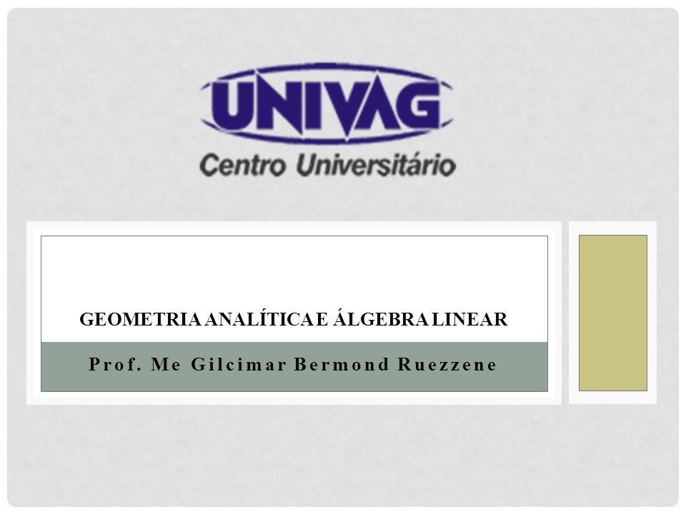 GEOMETRIA ANALÍTICA E ÁLGEBRA LINEAR