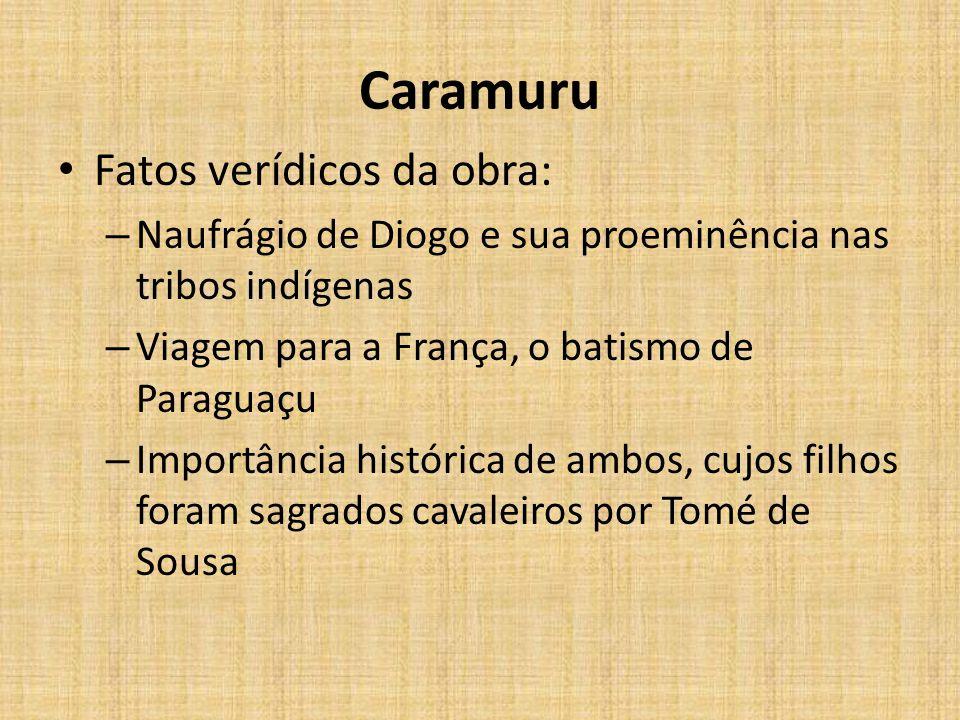 Caramuru Fatos verídicos da obra: