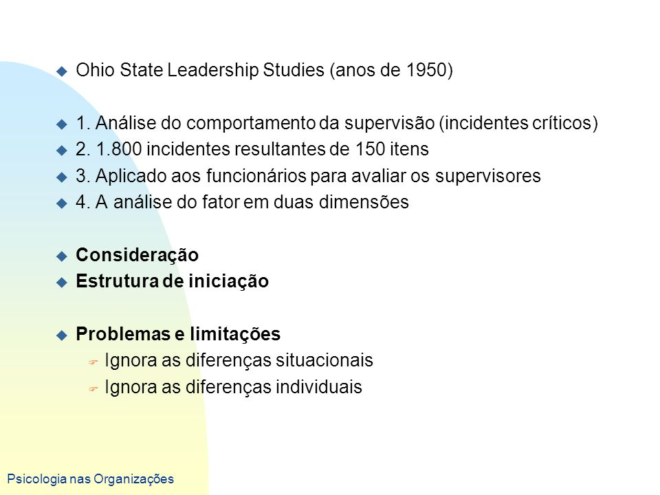 Ohio State Leadership Studies (anos de 1950)
