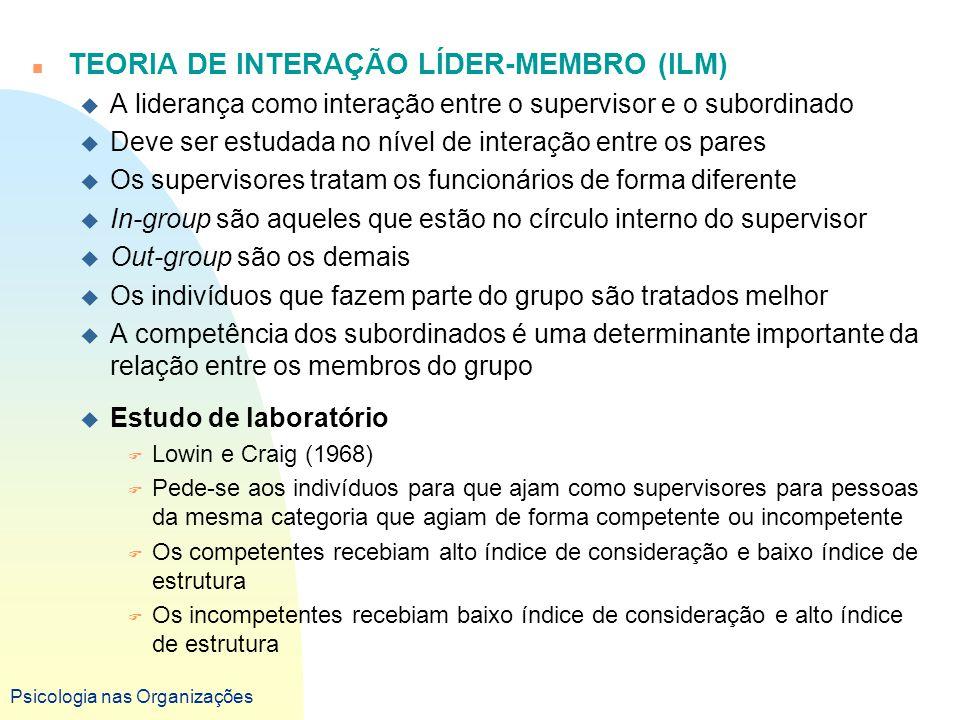 TEORIA DE INTERAÇÃO LÍDER-MEMBRO (ILM)