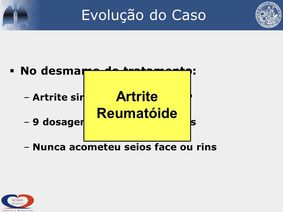 Evolução do Caso Artrite Reumatóide No desmame do tratamento: