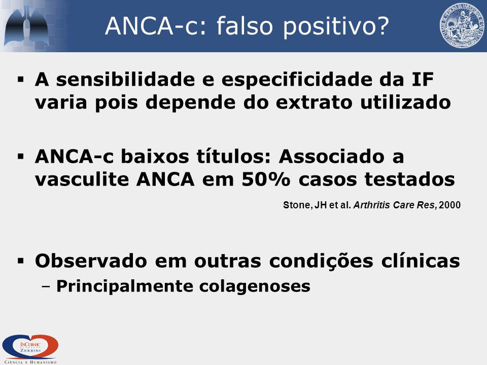 ANCA-c: falso positivo