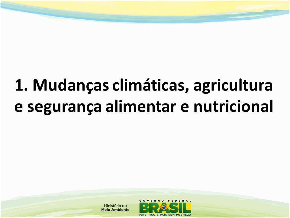 1. Mudanças climáticas, agricultura e segurança alimentar e nutricional