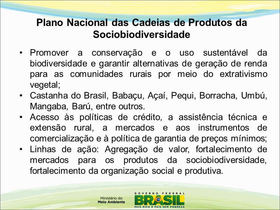 Plano Nacional das Cadeias de Produtos da Sociobiodiversidade