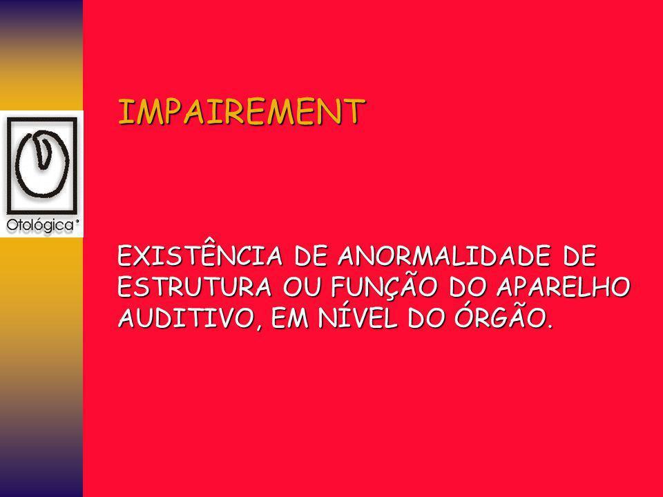 IMPAIREMENT EXISTÊNCIA DE ANORMALIDADE DE
