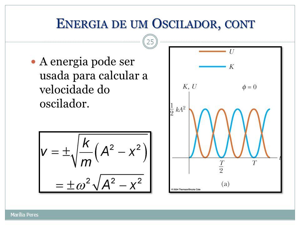 Energia de um Oscilador, cont