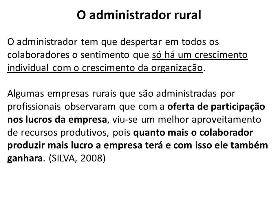 O administrador rural
