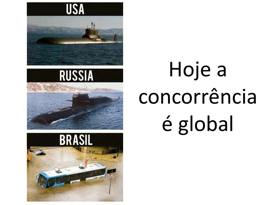 Hoje a concorrência é global