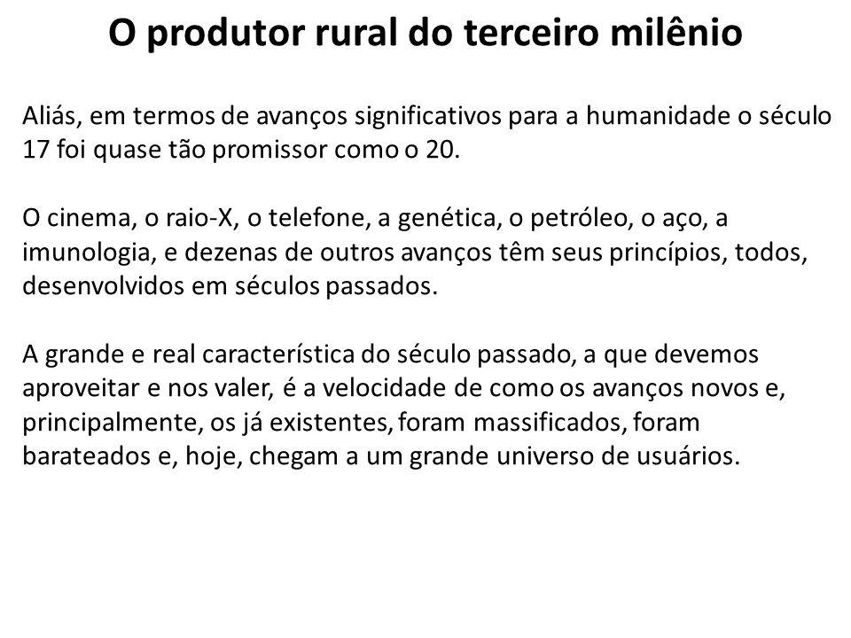 O produtor rural do terceiro milênio