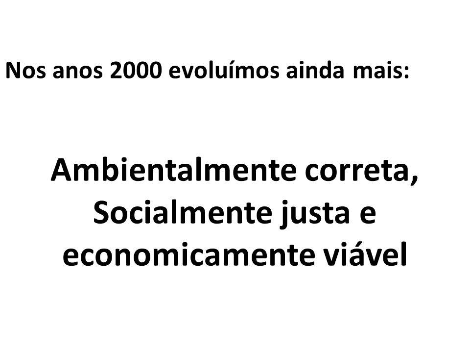 Ambientalmente correta, Socialmente justa e economicamente viável