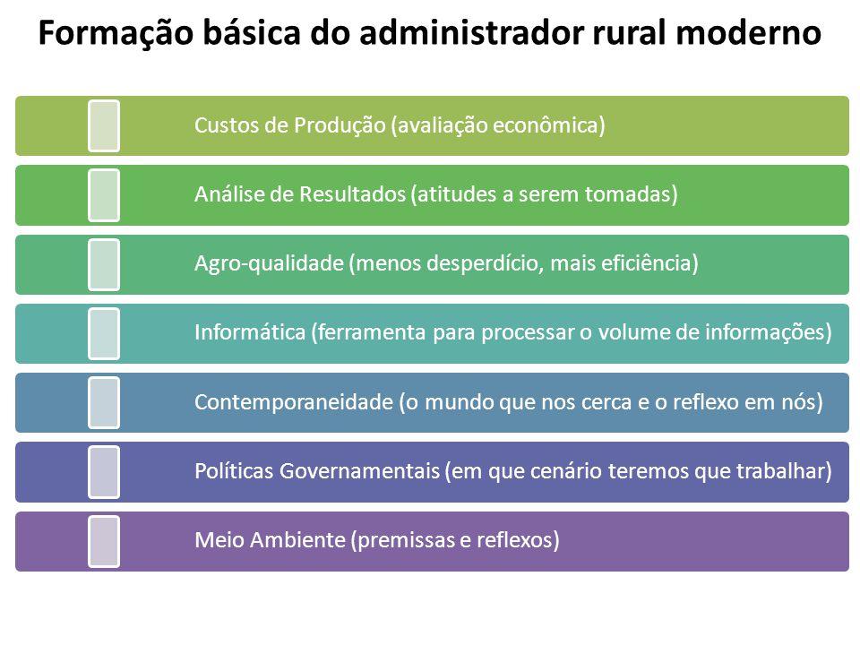 Formação básica do administrador rural moderno