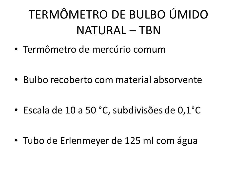 TERMÔMETRO DE BULBO ÚMIDO NATURAL – TBN