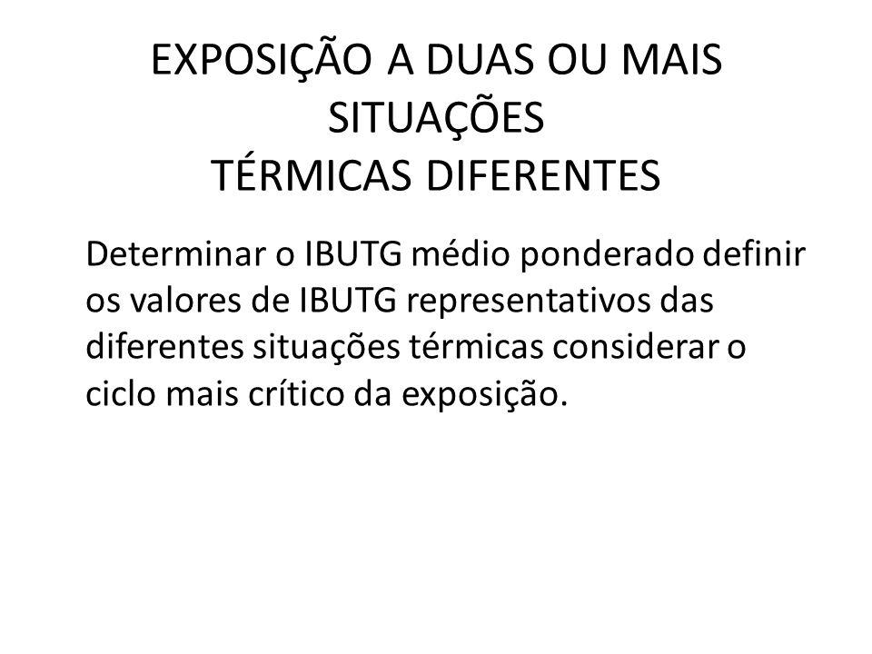 EXPOSIÇÃO A DUAS OU MAIS SITUAÇÕES TÉRMICAS DIFERENTES