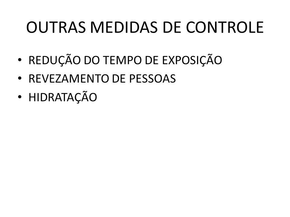 OUTRAS MEDIDAS DE CONTROLE