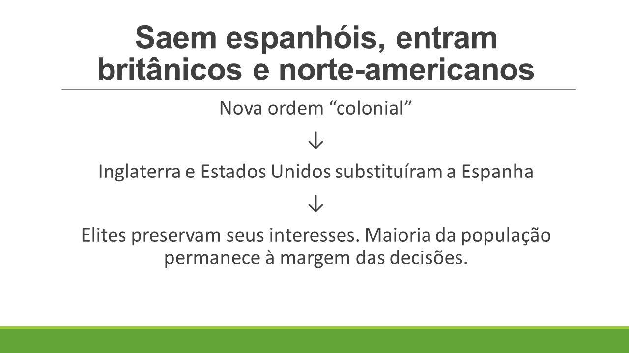 Saem espanhóis, entram britânicos e norte-americanos