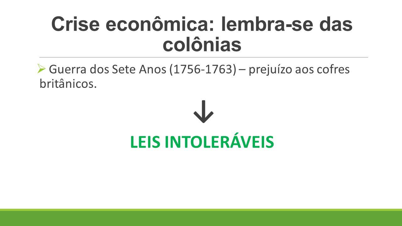 Crise econômica: lembra-se das colônias