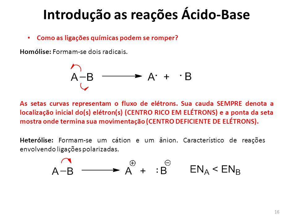 Introdução as reações Ácido-Base
