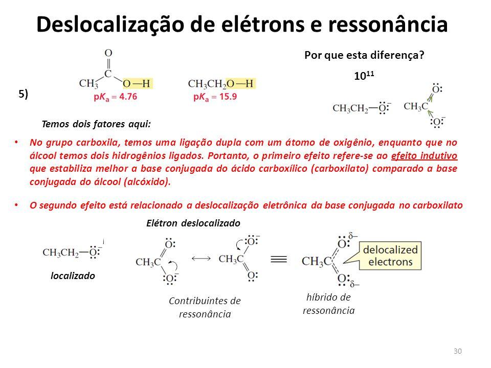 Deslocalização de elétrons e ressonância