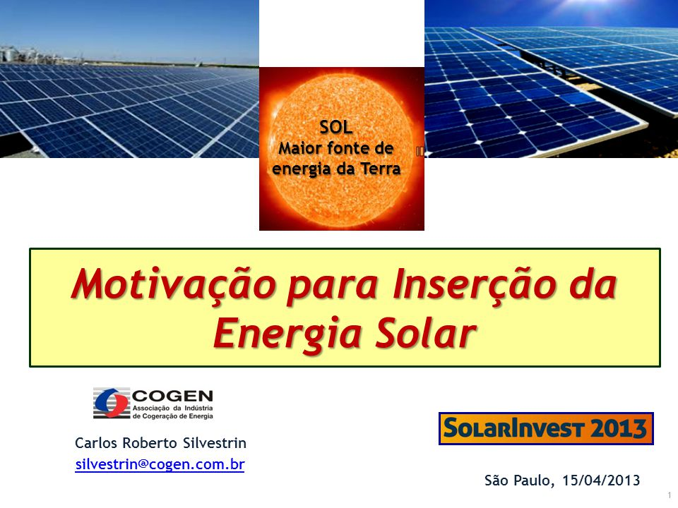 Maior fonte de energia da Terra