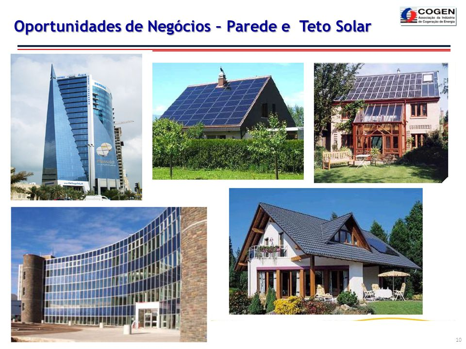 Oportunidades de Negócios – Parede e Teto Solar