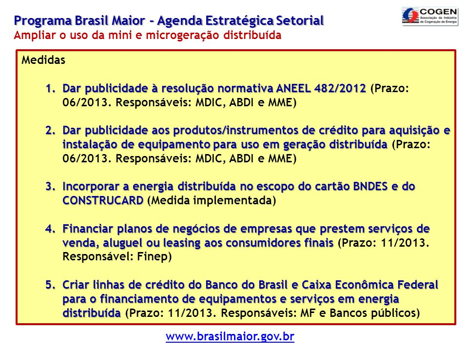 Programa Brasil Maior - Agenda Estratégica Setorial