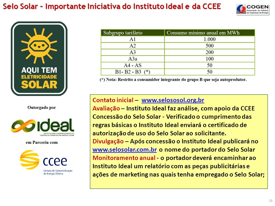 Selo Solar – Importante Iniciativa do Instituto Ideal e da CCEE