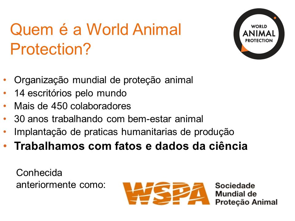 Quem é a World Animal Protection