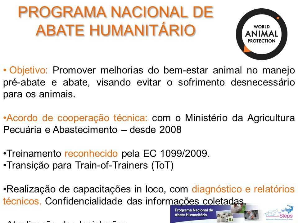 PROGRAMA NACIONAL DE ABATE HUMANITÁRIO