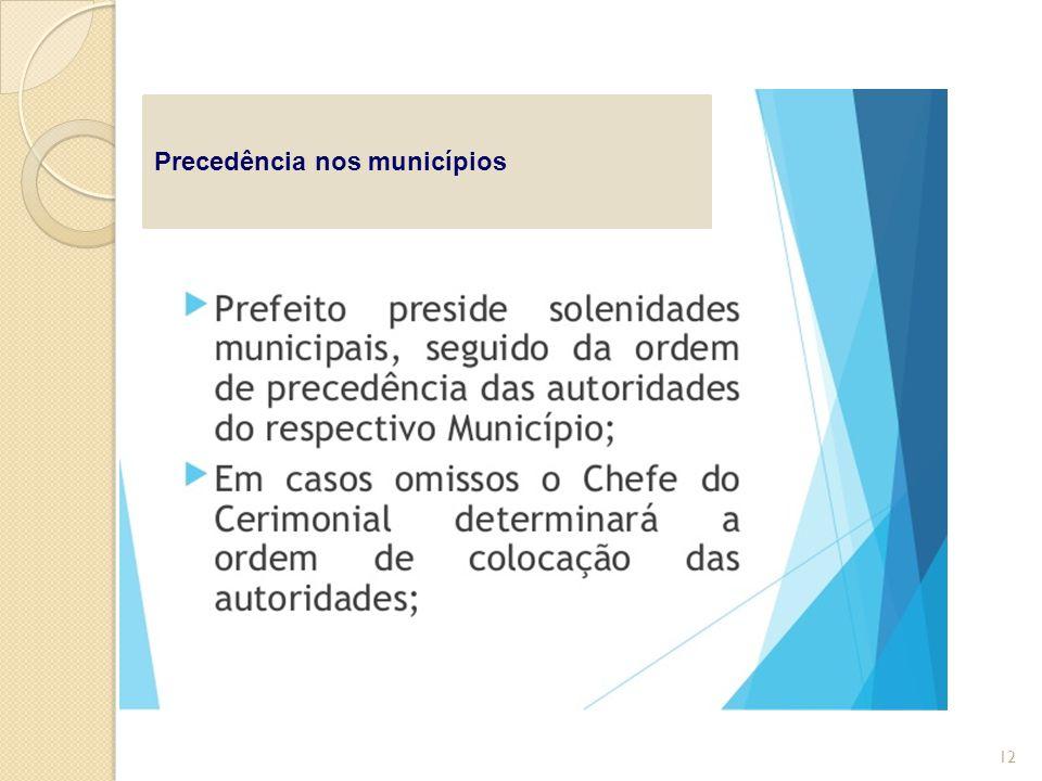 Precedência nos municípios