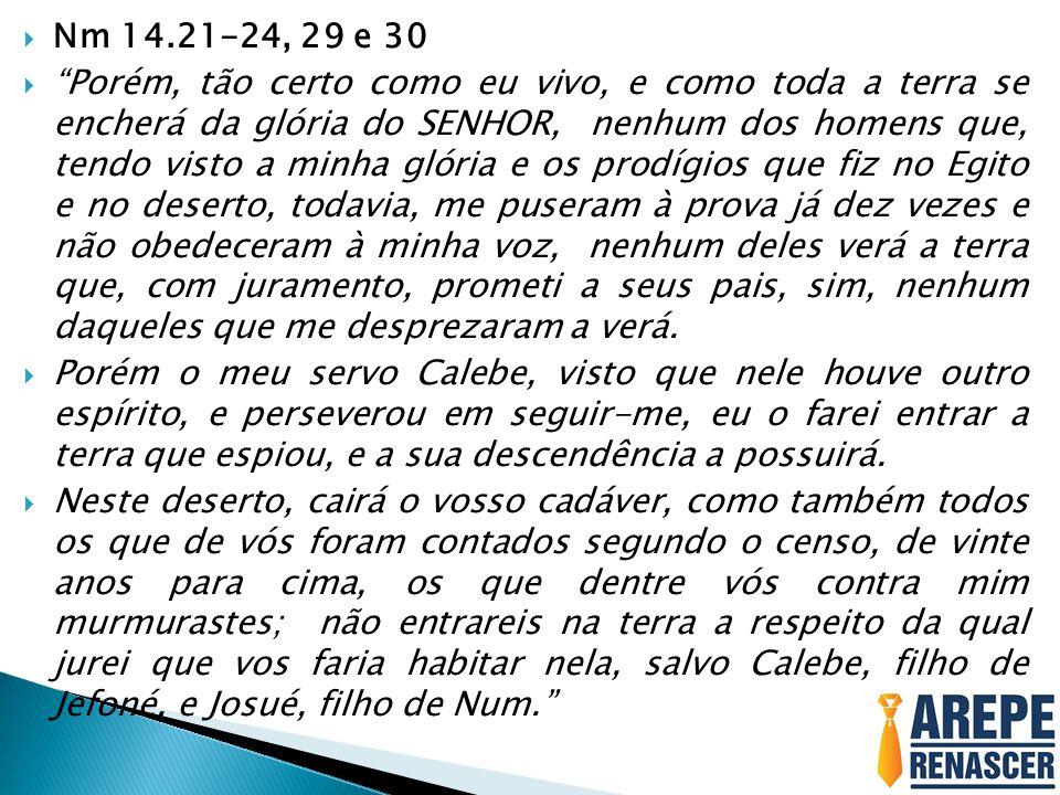 Nm 14.21-24, 29 e 30