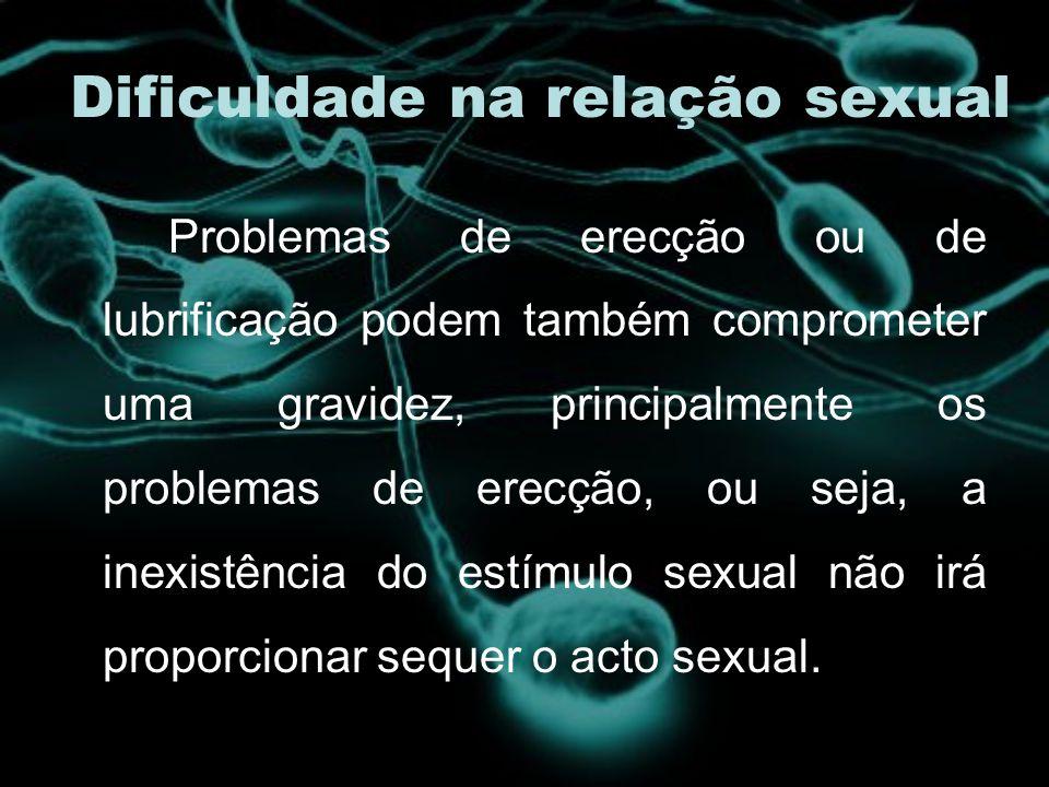 Dificuldade na relação sexual