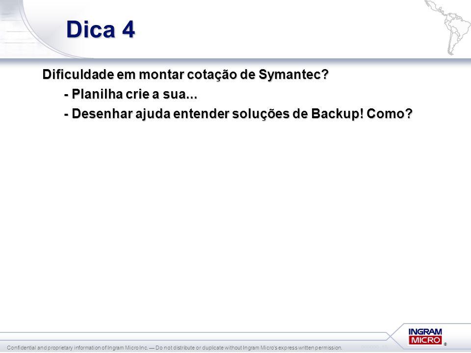 Dica 4 Dificuldade em montar cotação de Symantec