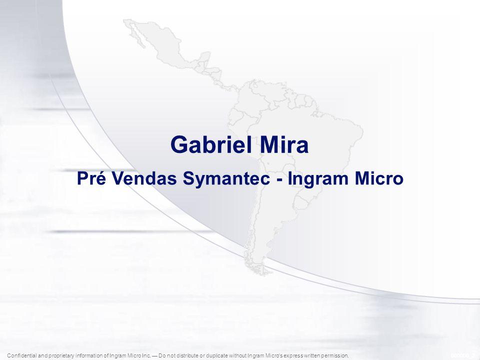 Pré Vendas Symantec - Ingram Micro