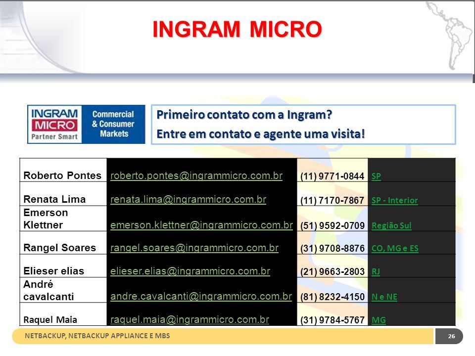 INGRAM MICRO Primeiro contato com a Ingram